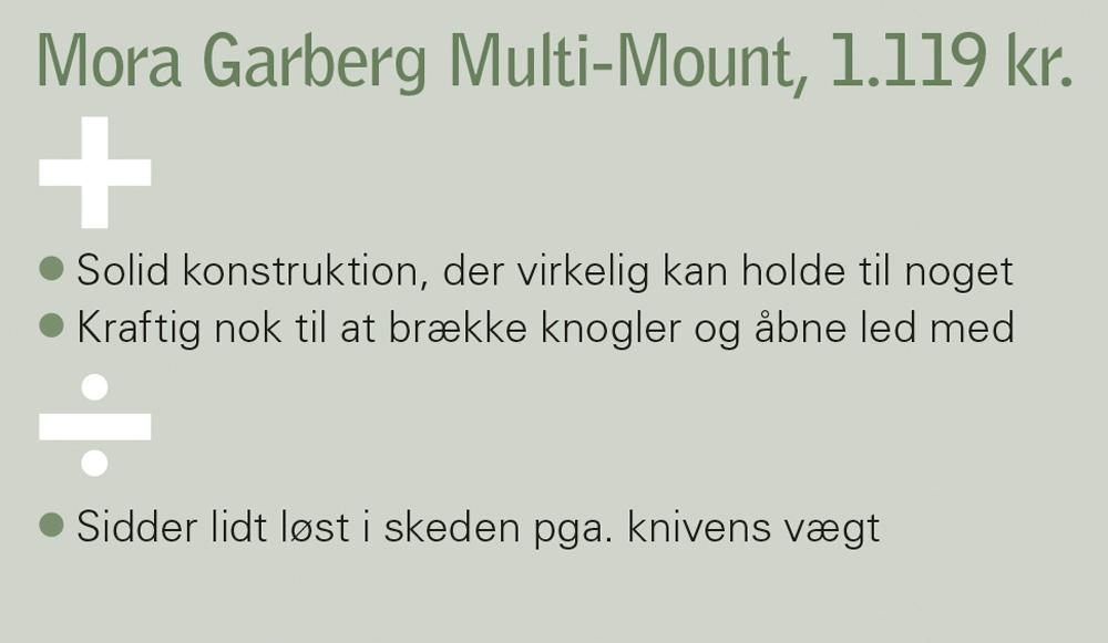 Mora Garberg-kniven er en solid konstruktion, der virkelig kan holde til noget.