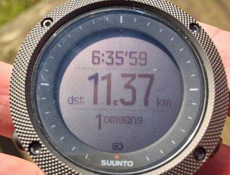 Displayet står klart på Suunto Traverse Alpa GPS ur